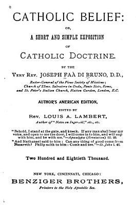 Catholic Belief PDF