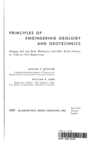 Principles of Engineering Geology and Geotechnics PDF