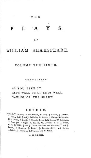 Download As you like it   All s well that ends well   Taming of the shrew Book