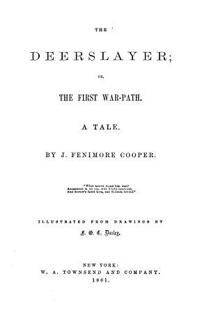 Novels  The deerslayer PDF