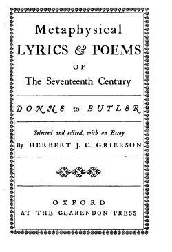 Metaphysical Lyrics and Poems of the Seventeenth Century PDF