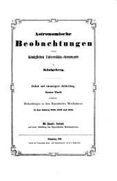 Astronomische beobachtungen auf der Königlichen universitäts-sternwarte zu Königsberg ...: Band 27