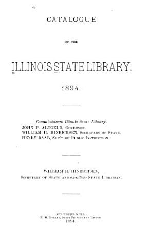 Catalogue of the Illinois State Library PDF