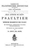 Sammlung franz  sischer neudrucke PDF