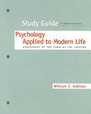 Psychology Applied to Modern Life