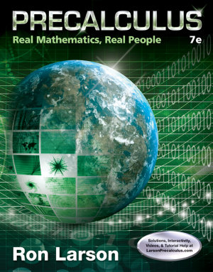 Precalculus  Real Mathematics  Real People PDF