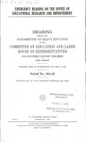 Emergency Hearing on the Office of Educational Research and Improvement PDF