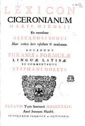 Lexicon Ciceronianum Marii Nizolii