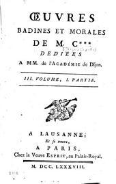 Oeuvres badines et morales: Volume1