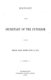 Annual Report of the Secretary of the Interior on the Operations of the Department