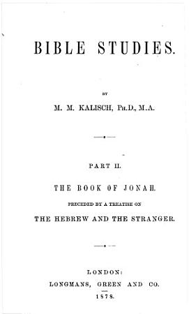 Bible Studies  The book of Johah PDF