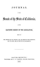 Journal of the Senate of the State of California at the ... Session of the Legislature