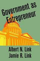 Government as Entrepreneur PDF