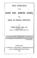 The Speeches of the Right Honourable Edmund Burke on the Impeachment of Warren Hastings PDF