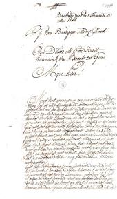 Brief aan priester Martin Jean De Bast