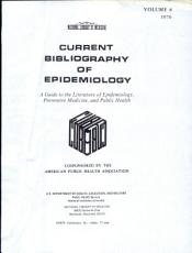 Current Bibliography of Epidemiology PDF