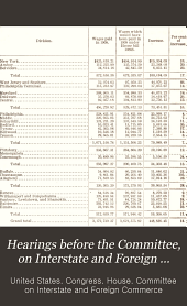 Hearings before the Committee, on Interstate and Foreign Commerce of the House of Representatives, on bills affecting interstate commerce: Volumes 1-12