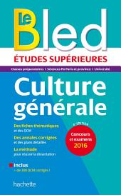 Bled Etudes Supérieures Culture Générale