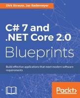 C  7 and  NET Core 2 0 Blueprints PDF
