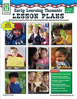 Early Learning Thematic Lesson Plans  Grades PK   1 PDF