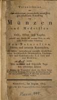 Verzeichnis der sehr zahlreichen     Sammlung von M  nzen und Medaillen     des Geheimrates J  J  von und Zur M  hlen PDF