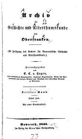 Archiv für Geschichte von Oberfranken: Bände 3-4