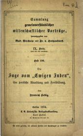 """Die Sage vom """"Ewigen Juden"""": ihre poetische Wandlung und Fortbildung"""