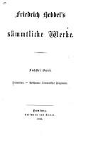 Friedrich Hebbel s s  mmtliche Werke  Bd  Demetrius   Posthuma   Dramatische Fragmente PDF