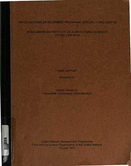 Inter American Institute of Agricultural Sciences of the OAS  IICA  PDF