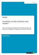 Geschichte Im Film  Lehrreich Oder Sinnfrei  PDF
