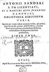 Bibliotheca scriptorum varia, quorum per totum orbem terrarum notitia