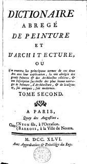 Dictionnaire abrégé de peinture et d'architecture: Volume 2