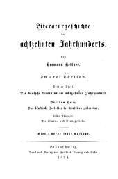Literaturgeschichte des achtzehnten Jahrhunderts: Band 3,Ausgabe 3