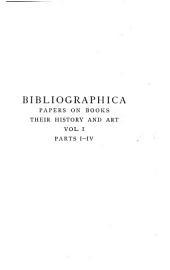 Bibliographica: Volume 1