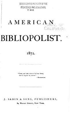The American Bibliopolist