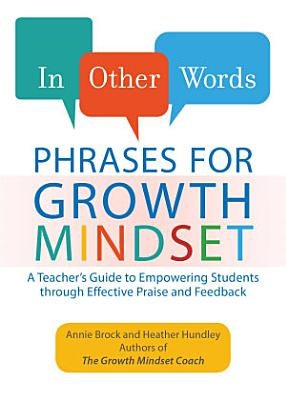 In Other Words  Phrases for Growth Mindset PDF
