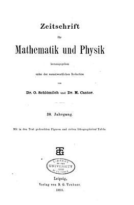 Zeitschrift fur Mathematik und Physik PDF
