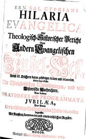 Hilaria evangelica: oder ... Bericht vom andern evangelischen Jubelfest