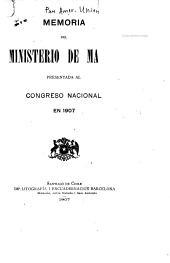 Memoria del Ministerio de Marina