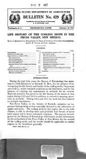 Life History of the Codling Moth in the Pecos Valley, New Mexico