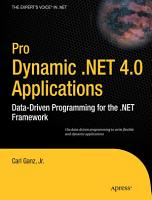 Pro Dynamic  NET 4 0 Applications PDF
