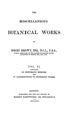 The Miscellaneous Botanical Works of Robert Brown PDF