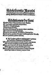 Adolescentia Jacobi Wimphelingii