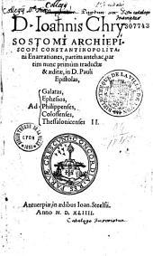 Enarrationes in D. Pauli epistolas