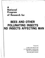 A National Program of Research for Bees and Other Pollinating Insects and Insects Affecting Man PDF