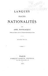 Langues, races, nationalités