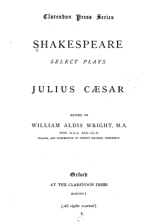 Select Plays: Julius Caesar