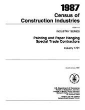 1987 Census of Construction Industries: Industry series. Painting and paper hanging special trade contractors, industry 1721