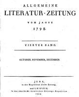 ALLGEMEINE LITERATUR ZEITUNG VOM JAHRE 1798 PDF