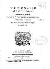 Diccionario apostolico, &c: Volumen 3